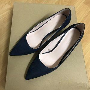 Zara Navy Blue Suede Pumps Size 6.5/37